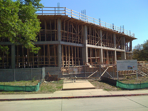 Caruth Hall construction